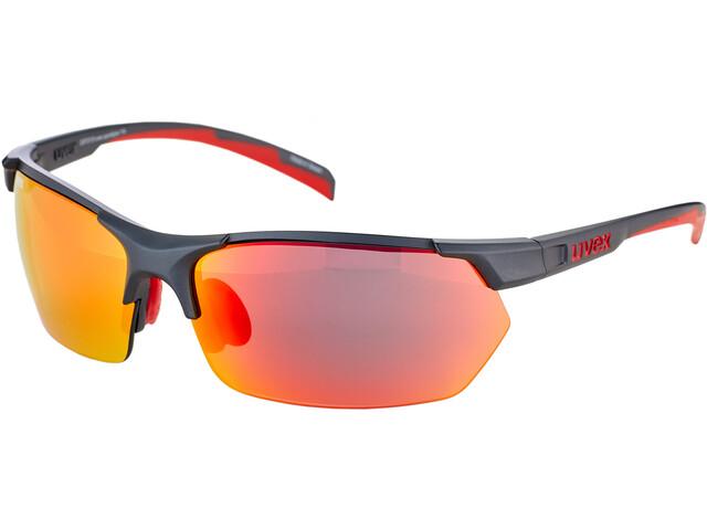 UVEX Sportstyle 114 Glasses, gris/rojo